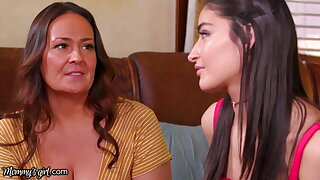 Emily Willis Learns How To Burst In A Lesbian Threesome