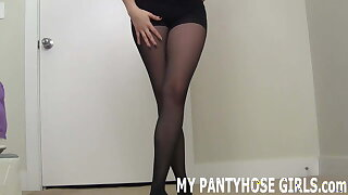 Get your dick out and jerk it to me in pantyhose JOI