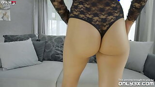 Super horny Ava Black fills both her crevices with sex playthings -