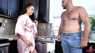 Busty Lusty Housewife Cougar Cleans the Plumbers Pipes