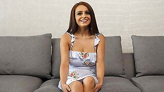 Petite Latina With Big Natural Tits Was Shy Then Very Horny