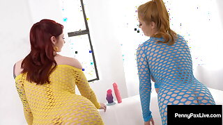 Ginger Bush Beauties Penny Pax & Violet Monroe Ass Fucking!