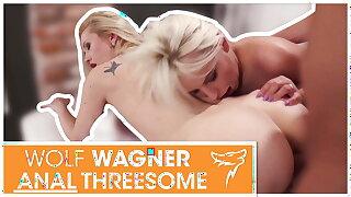 Hot anal threeway poke with 2 blonde chicks! wolfwagner.com