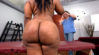 BBW Black Ms London Gets Fucked Hard After Rubdown