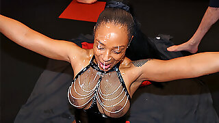 White men cumming and face creaming a black girl
