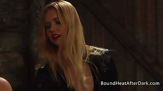 Lezzie Teen With Collar Around Her Neck Dominated By Mistress