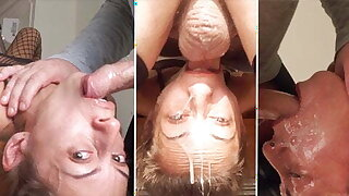 Tiny breezy Candy Girl loves a sloppy upside-down throatfuck