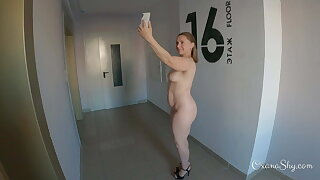 Public dare. Totally nude selfies with cum on my face