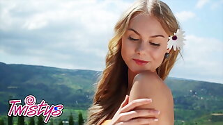 Nancy A Spreads Wide And Takes Off Her White Panties