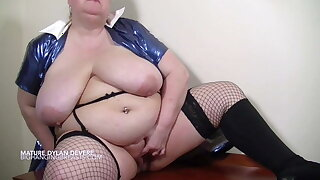British grandmother with massive fat tits