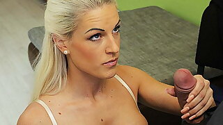 LOAN4K. Agent promises a bunch of money to hottie…