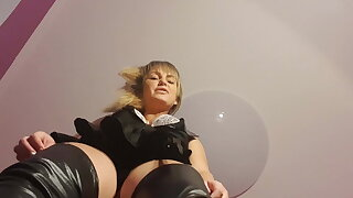Bondage & discipline from splendid queen in latex