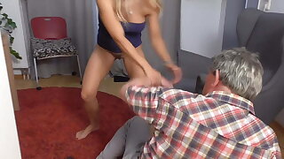 princess nicole strike poor grandpa brutal down