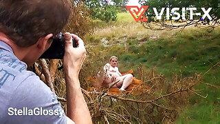 VISIT-X Voyeur films draining obese towheaded BBW MILF