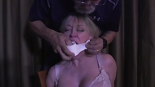 Mature wife with thick ass gets taste of bondage, humiliation and BDSM punishment