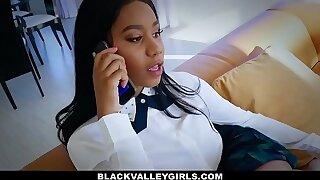 BlackValleyGirls - Cute Ebony Teen (Jenna Foxxx) Sneaks Around Dad To Boink Bf