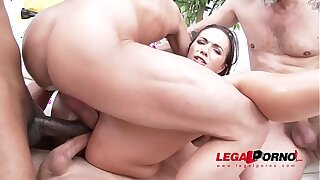 Youthful Superslut Kristy Black's First Triple Anal Scene