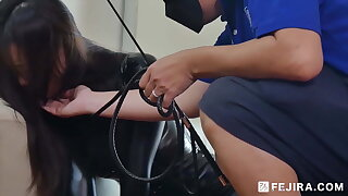 Fejira com – Rubber Agent Girl Groomed Like a Dog