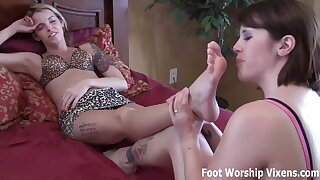 Shes right on time to begin worshiping my feet