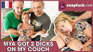 Cougar Mya Lorenn enjoys a French threesome! Snap-Fuck.com