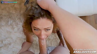 Anal scene - Curly haired Stasy Riviera jizzing hard in anal action