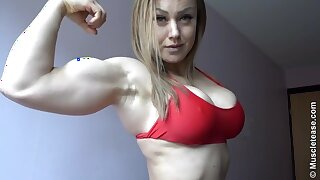Hot Little Muscle Milf Flexing - Mature