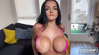 Brunette Sex industry star Payton Preslee Ass licking her Lover - Point of view Rimjob & Blowjob