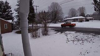 Fucking my Bbw snow bunny in the snow