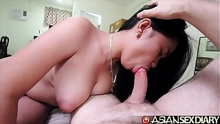 Asian Intercourse Diary - Sexy youthfull MILF gets big white cock