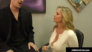 Lay Your Head Against My Tits! Julia Ann Milks Her Stepson!
