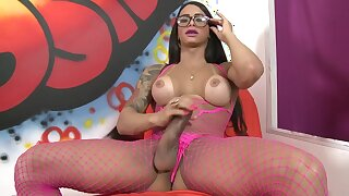 Rosy Desirable Hung She-creature With Immense Knob