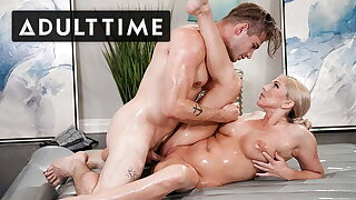 Teaching Son-In-Law Nuru Massage By Riding His Cock!