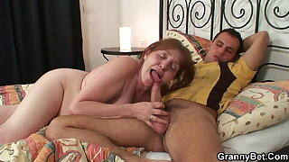 80 years old granny deepthroats and rides stranger dick