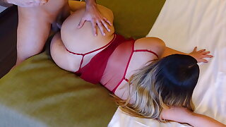 Big Arse MILF Stepmom Let Her Stepson Fuck Her And Record It