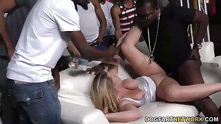 Brooke Wylde gets gangbanged in a club