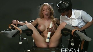 BDSM XXX Slave girl with massive breasts gets it rock hard