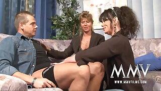 MMV Films Mature teacher having joy with a couple