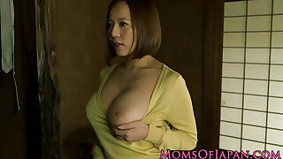 Busty japanese milf getting porked