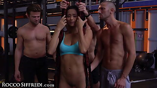 Veronica Leal Gets Gangbanged In A Gym While Teaching
