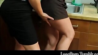Brunette Opens Her Gams on the Office Kitchen Counter Lesbian Mobile Free Porno HD