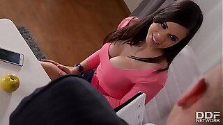 Ultra Sexy Big tits Pornstar Nekane Gonzo Fucked in the Office!