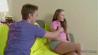 He Fuck His Extrem Smallish Step-Sister in Ass With Big Pecker