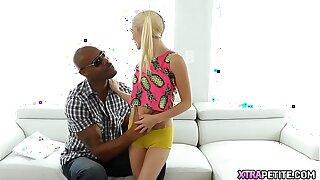 Big Ebony Dick Ruining Petite Teen's Pussy