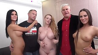 Jasmine Jae, Mea Melone and Harmony Reigns Plow TWO Devotees in Porno Dan's Plow A FAN!