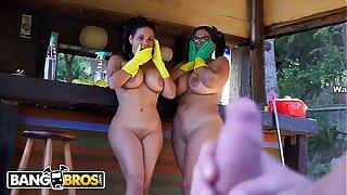 BANGBROS - Hot Latina Maids Sheila Ortega and Kesha Ortegas Get Their Big Backsides Fucked