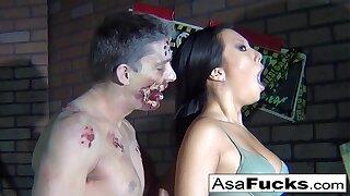 Asa Akira's Zombie Anal invasion Creampie