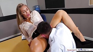 Super-naughty America - Find Your Desire Nicole Aniston fucking in the desk with her medium butt