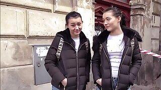 Pretty Polish Twins Share a Weenie