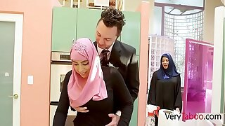 Arab Daughter-in-law In Hijab Fucks Father- Ella Knox