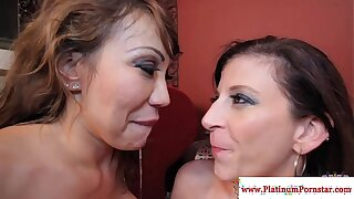 Ava Devine and Sara Jay jizz swapping